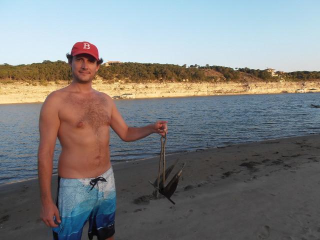 Bootsanker beim Strandspaziergang gefunden