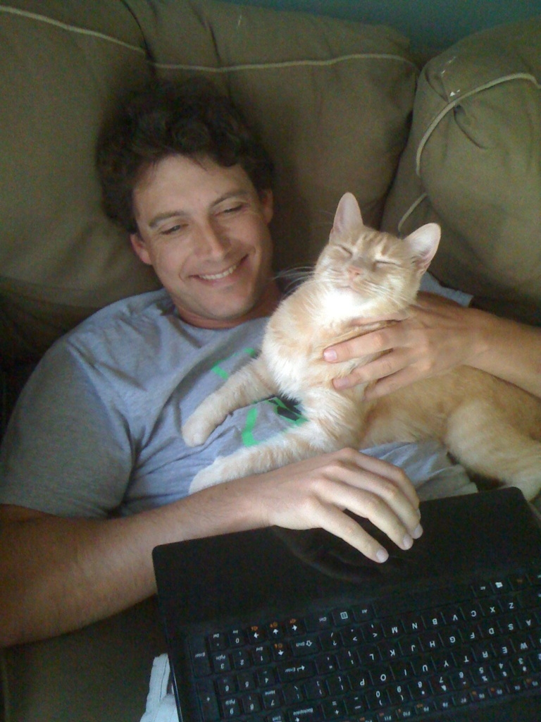 Elmar and Max, working from home