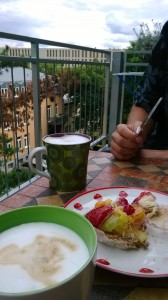 Kaffee und Kuchen on Danie and Bernd's balcony